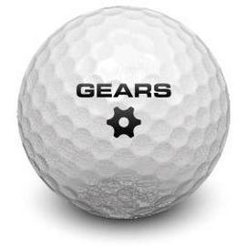 golf ball with Gears logo