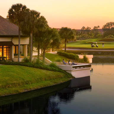 guest villas on the water near the golf course at grand cypress