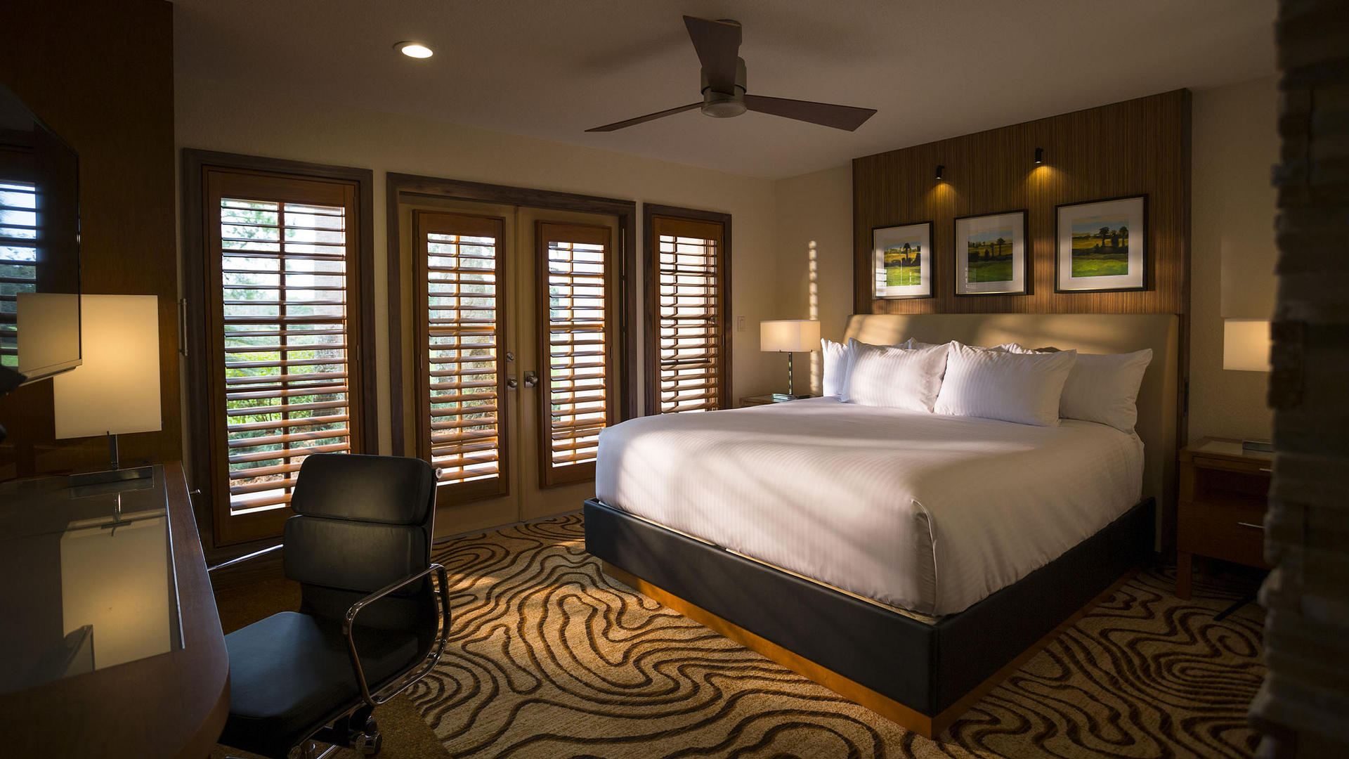 king bed resort suite at grand cypress