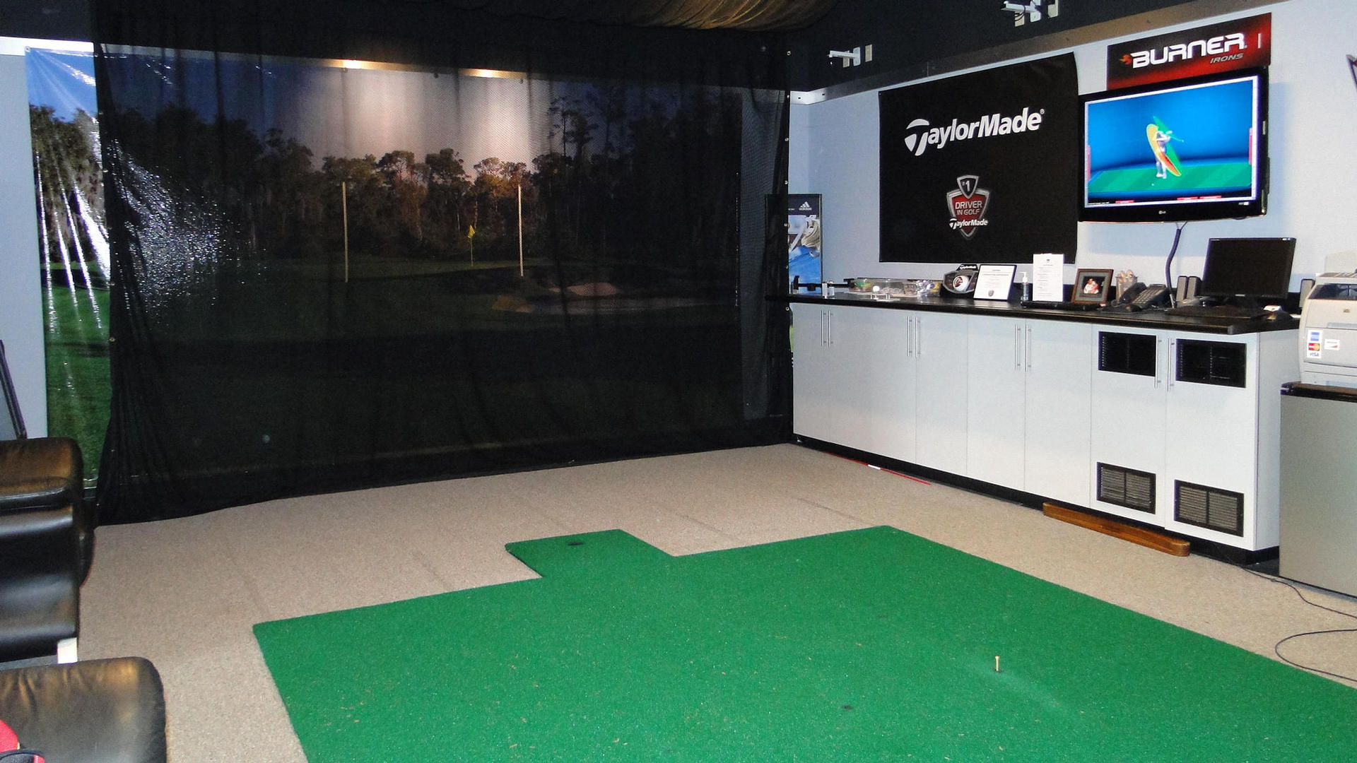 indoor practice driving range