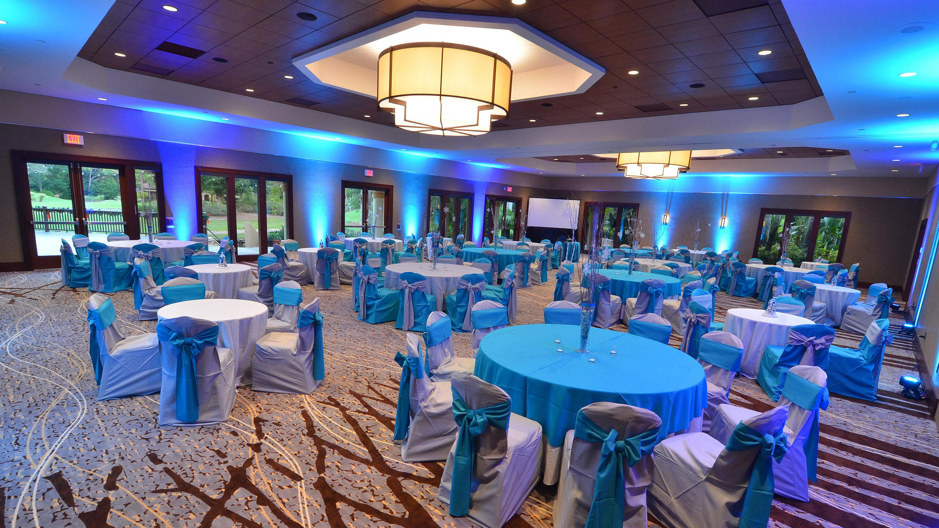 Ballroom Set Up For A Wedding at Villas Of Grand Cypress In Orlando, FL