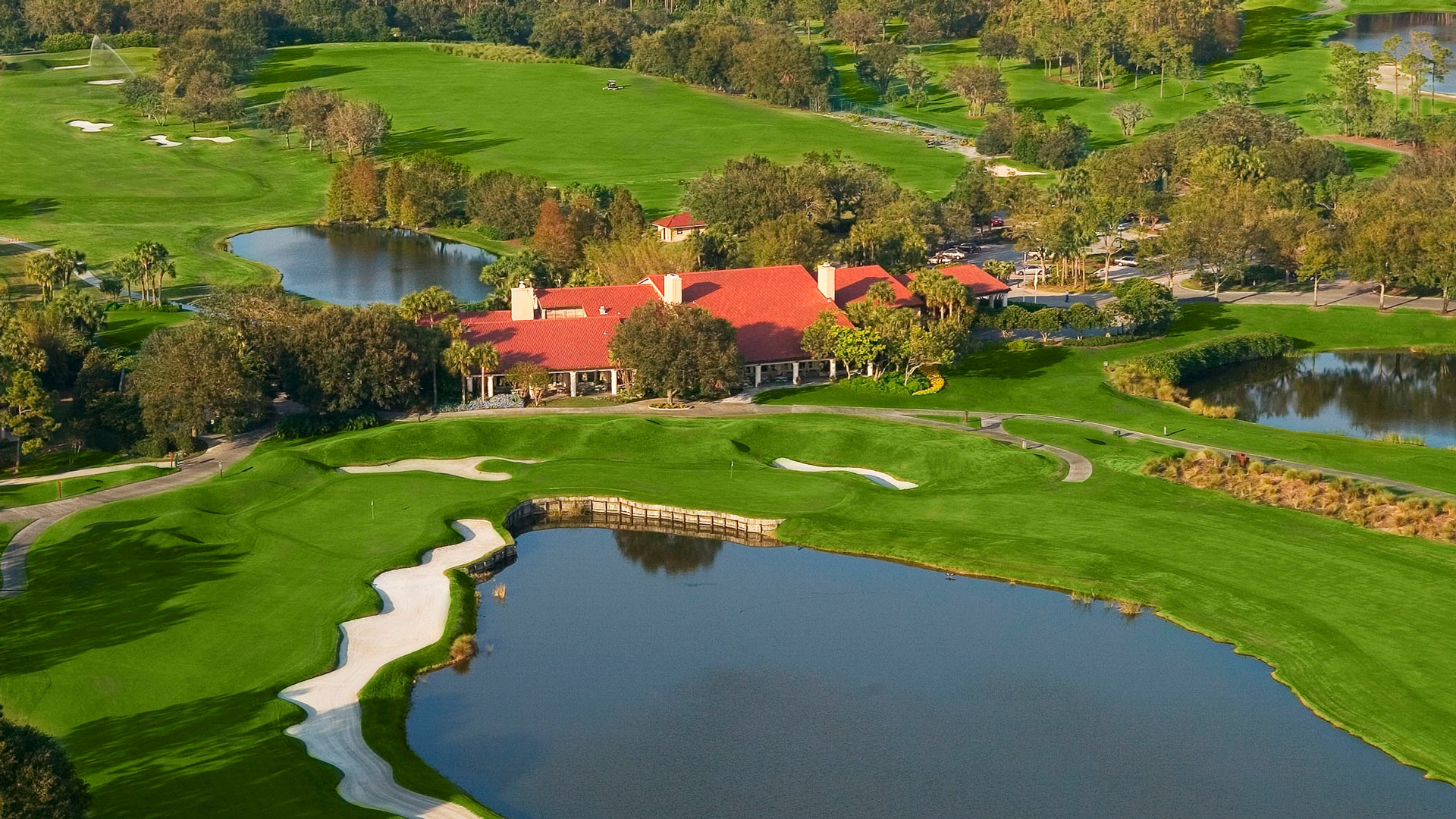 Aerial View of The Club House at Villas
