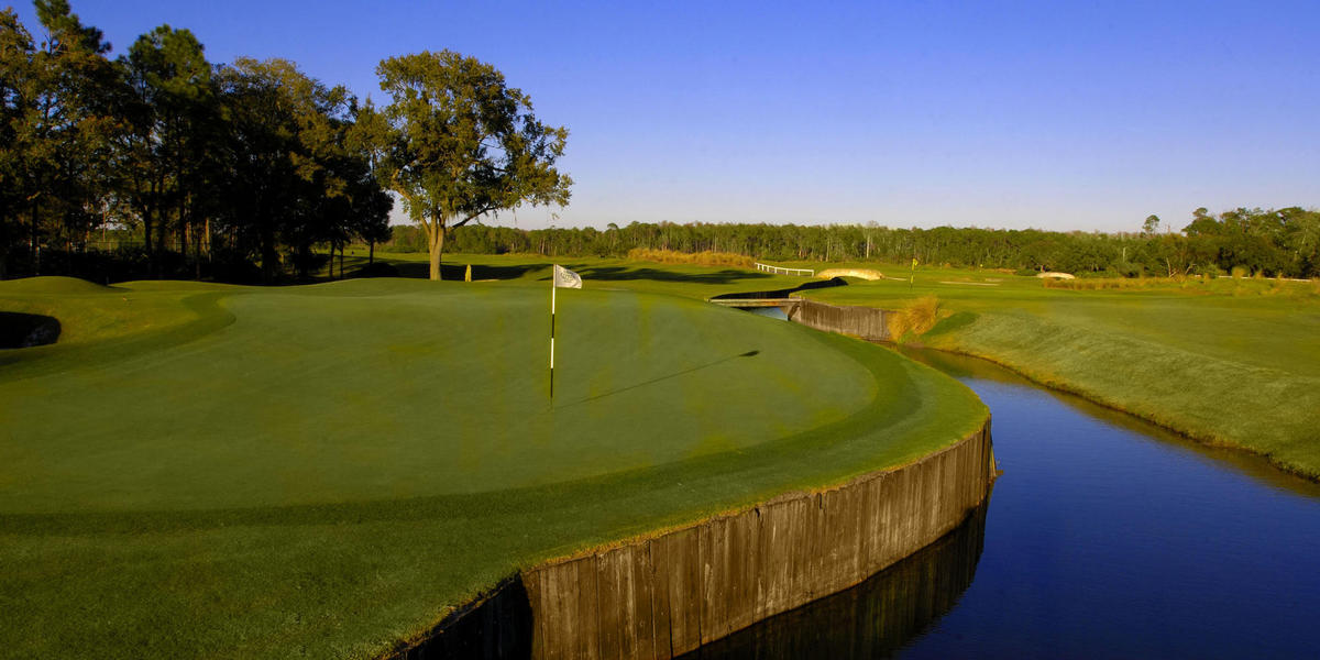 Golf course and waterway